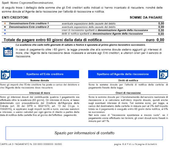 Fisco, la nuova cartella pagamento